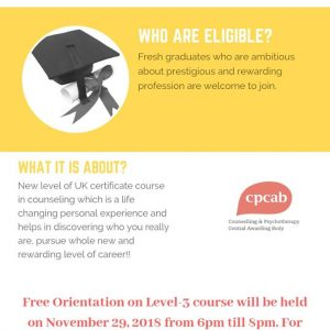 New Level of UK Counselling Course (Level-3)