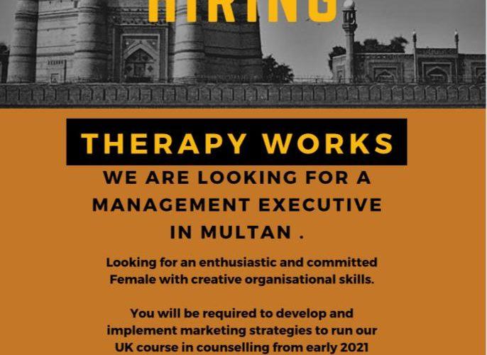 Management Executive Job in Multan
