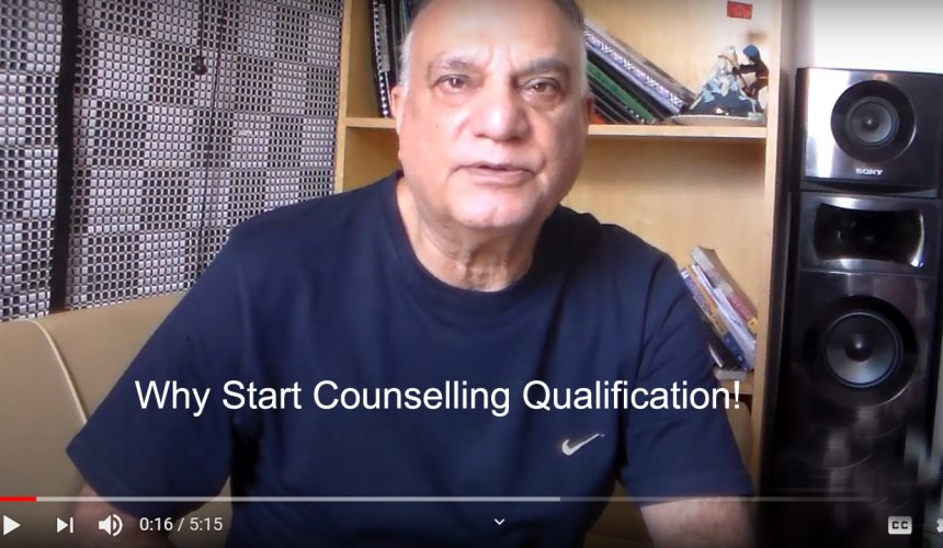 UK Counselling Course Director, Tahir Zahoor Ahmed Talks About Why Start Counselling Qualification!