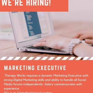 Hiring! Female Marketing Executive in Islamabad