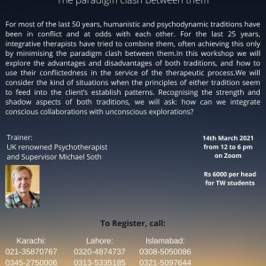 Therapy Works presents an International Workshop by UK Renowned Psychotherapist and Supervisor Michael Soth