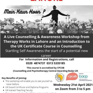 Free Workshop of the UK Level 3 course in Counselling
